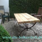 Massivholz Tisch Eisengestell