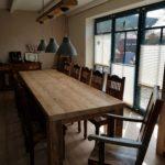 massivholztisch wohnzimmertish Altholztisch Esszimmertisch Wintergarten Tisch Landlich